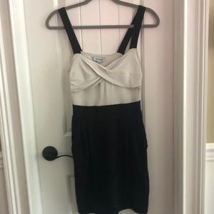 Bebe dress black and white size M